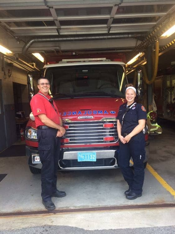 Left to right: Firefighter Thomas Ash and Firefighter Brittany Taylor. (Courtesy Photo)